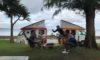 沖縄のヒーピー浜でキャンプした様子をドローン撮影しました。